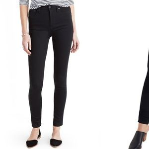 "Madewell 10"" High Rise Skinny in Carbondale/ Black"